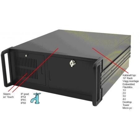 Industriell PC DOS, NT, WIN 3.22, WIN XP kundspecificarad med och utan ISA, PCI, PCI-X osv.
