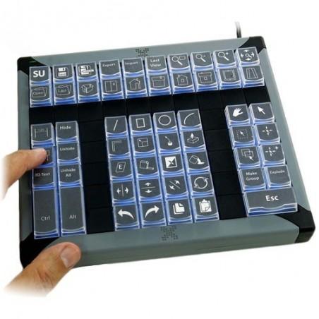 Tastatur med 60 x programmerbare taster til KVM styring, USB