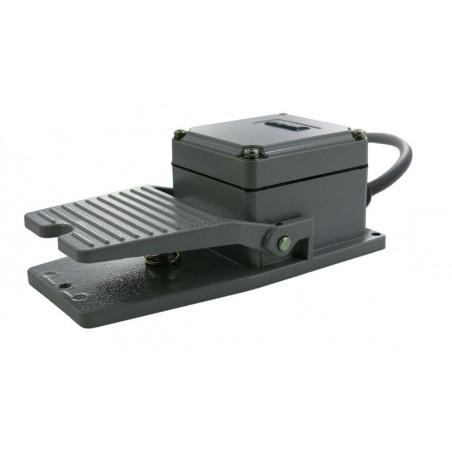 Industriell fot-kontakt för USB-kontaktbox. 2,9 m ledning med 3,5 mm jack kontakt. Grå. Tillbehör