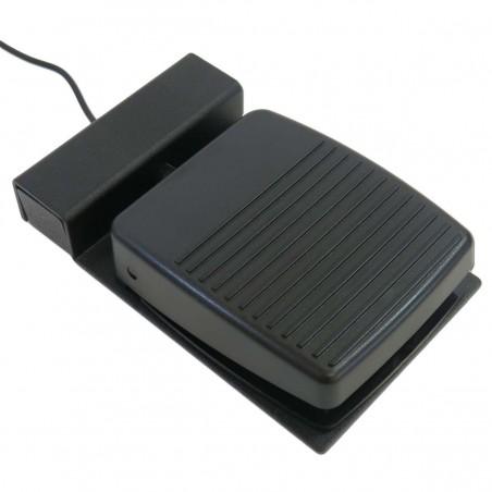 Industriell / robust fotpedal till USB-kontakt-box. Kabel med 3,5mm Jack plug. svart. Tillbehör