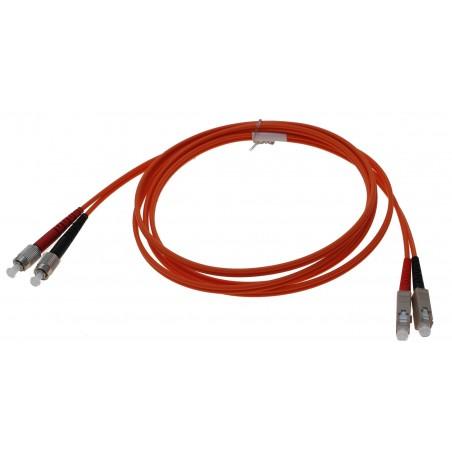 Fiberkabel SC-FC duplex, 62,5/125μm Multi Mode, OM1, 2meter