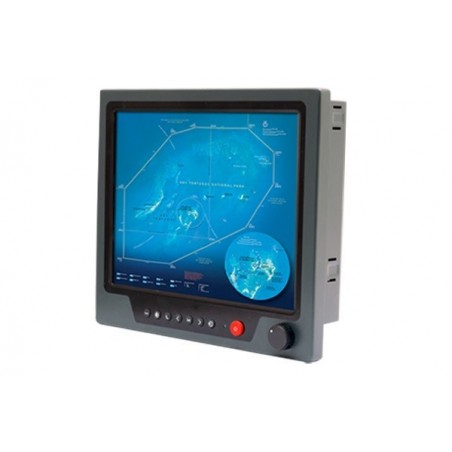 "19"", IP65, 1000 nits, marine godkendt panel moniter med resistive touch support"