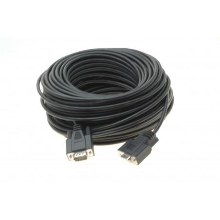 RS232 seriel kabel DB9 han-hun UV beskyttet. Driftstemperatur på -40° til +85° 45m