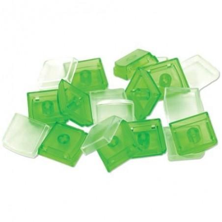 Lösa X-Keys tangenter, keycaps, med 10 st. gröna