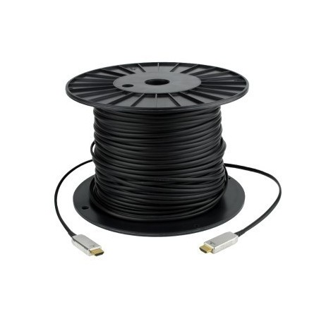 HDMI 1.4 Hybrid kabel. HDMI han - HDMI han sort, 65 meter