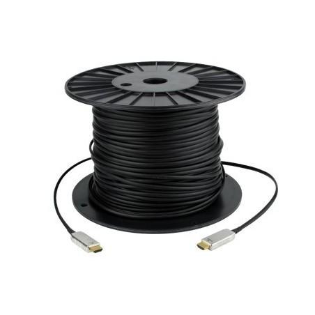 HDMI 1.4 Hybrid kabel. HDMI han - HDMI han sort, 100 meter