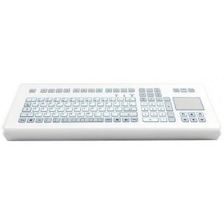 Industri tastatur IP65 tæt med touchpad. Nordisk layout, USB