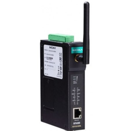 1-ports industriel GSM/GPRS/EDGE/UMTS/HSPA IP gateway, RS-232/422/485, -30-55°C, MOXA OnCell G3150A-HSPA