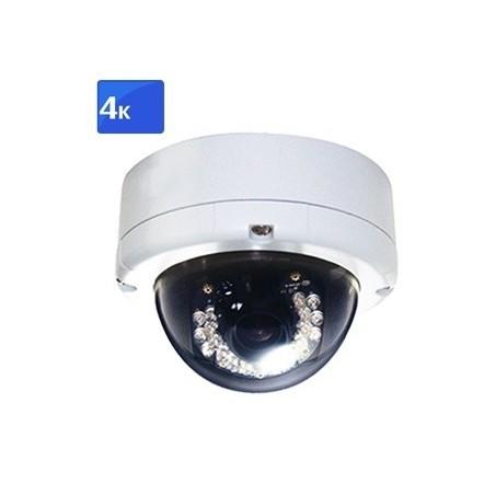 Udendørs vandalsikret 4K IP PoE domekamera 8MP IR H.264
