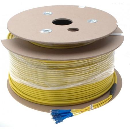 8 Core armeret fiberkabel single mode 9/125, LSZH, 8 x LC stik, gul, 200 meter