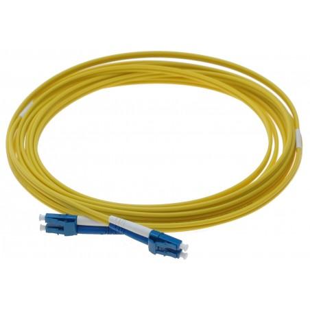 Singlemode LC fiber patillchkabel, 9-125 μm, 0,5 meter