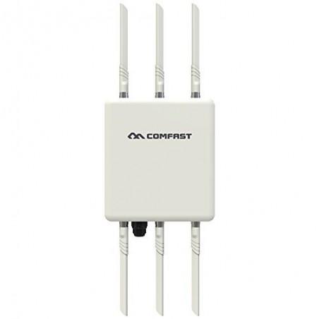 Acces Point, trådløst 2.4GHz & 5.8GHz 802.11ac, 1750Mbps, 6 x 5dBi antenner, til PoE, udendørs med rækkevidde op til 5km
