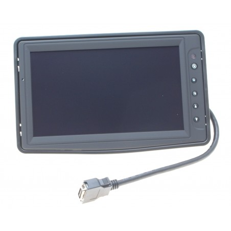 "8"" LED High Bright TFT 16:9, 500 cd/m2/nits, -30- +85℃, Touch screen (USB Interface),1 X VGA, 3 X Video"