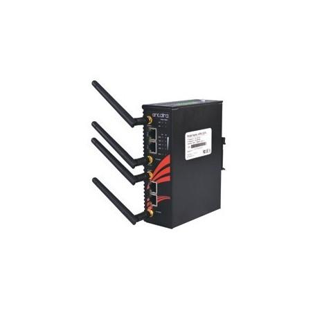 Industriel Wifi, Access Point, Client, Bridge, Repeater, 300Mbps, 2,4GHz / 5GHz, 2 x LAN, DIN-skinne, -10 - + 60°C, 12 - 48VDC