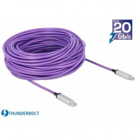 Optisk Thunderbolt datakabel 10 Gbit han-han, AWG 36, 30m