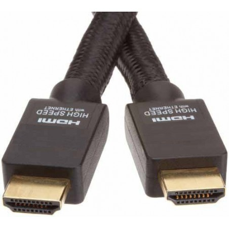 HDMI 2.0 , 4K, High Speed Ethernet kabel med han-han stik, sort, 5,0m