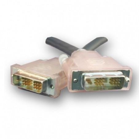SLAC DVI kabel, DVI-D han til DVI-D han, Single Link. Til lange kabeltræk, svart, 20m