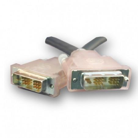 SLAC DVI kabel, DVI-D han til DVI-D han, Single Link. Til lange kabeltræk, svart, 10m