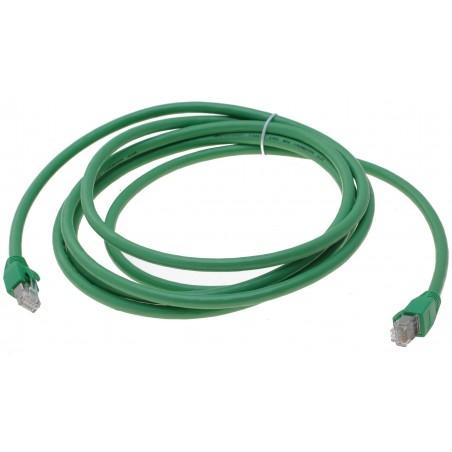 Cat. 6 Polyurethan netværkskabel RJ45 med PUR kappe, halogenfri, tåler op til 60°, AWG24, grøn, 3,0m