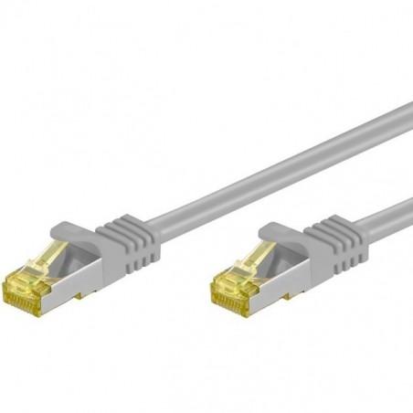 skärmad nätverkskabel med RJ45-kontakter, katillegori 7, 1m
