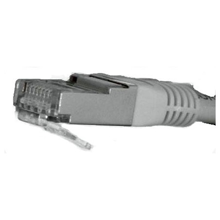 Cat. 5 netværkskabel, RJ45, STP/FTP - Skærmet og med krydsede ledere, AWG24, grå, 1,0m