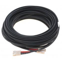 Fiberoptisk kabel med fleksibel armering af rustfrit stål - multimode SC, 150 meter