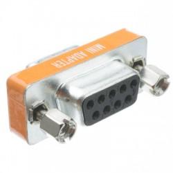 Nullmodem adapter, DB9 för...