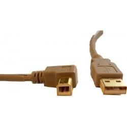 USB A hane - B hane, 90 °...