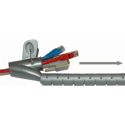 Spiral formar kabel lagring