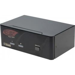 KVM-switch med DVI, ljud...