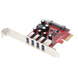 PCIe-kort med 4 USB...