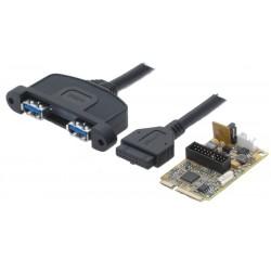 Mini PCIe-kort med 2 USB...