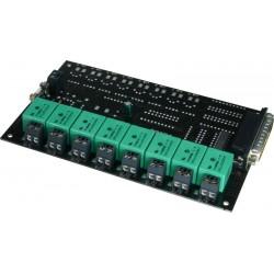 8 reläutgångar till.USB-DIO24