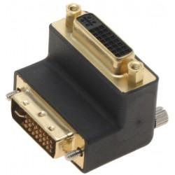 DVI-I-adaptern M/F 90º...