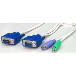 Bläckfisk KVM kabel m. PS2...