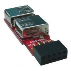 USB knappnålshuvud till 2 x...