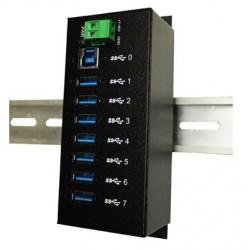 7 portar Industrial USB3...