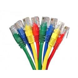 Nätverkskablar i längder om 1 till 100 meter i olika färger