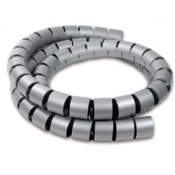 Kabelsamler, Spiral, grå,...