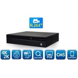 16 kanals 4K NVR optager...